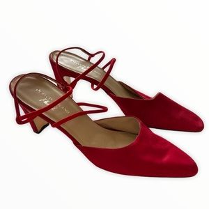 Phyllis Poland Phase 2 Strappy Red Heels Size 9